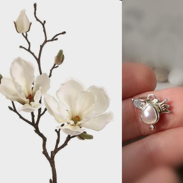 Angeliukas ant magnolijos žiedlapio